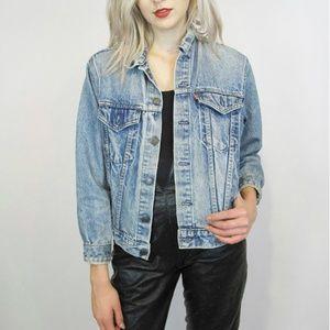 Levis   Cropped Denim Trucker Jacket Shrunken Jean